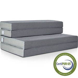 Details about Folding Portable Mattress Washable Cover High Density Foam  Guest Sofa Bed