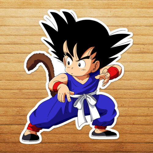 Dragon Young Kid Goku Stance w// Tail Die Cut Wall Car Window Decal Sticker