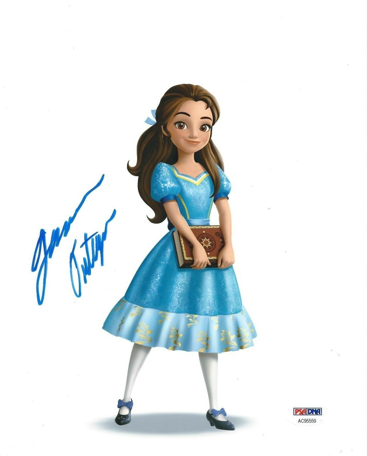 Jenna Ortega Signed 'Elena of Avalor' 8x10 Photo *Princess Isabel PSA AC95559