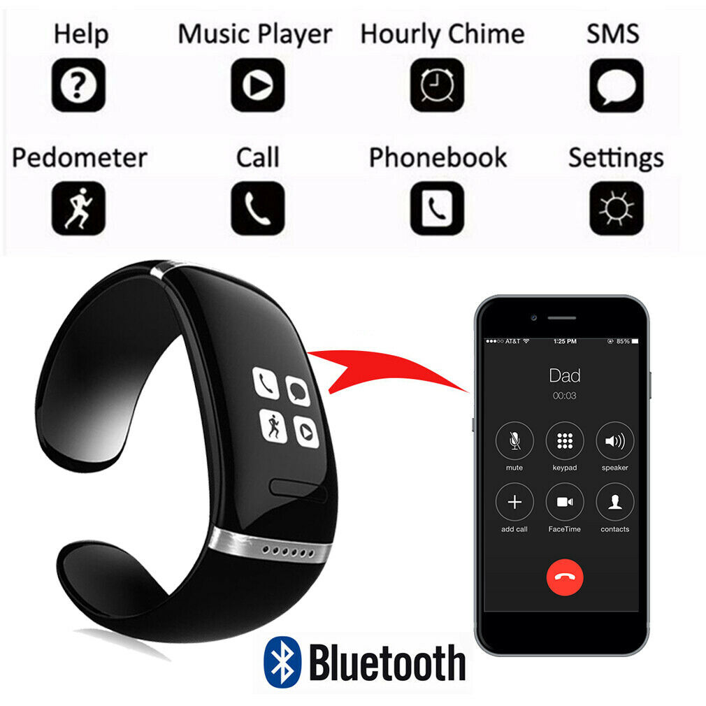 Smartwatch Bracelet Wristband Removable Bluetooth Headset Calories Pedometer For Sale Online Ebay