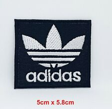 ADIDAS IRON ON LOGO X 5 BLACK 5CM SIZE