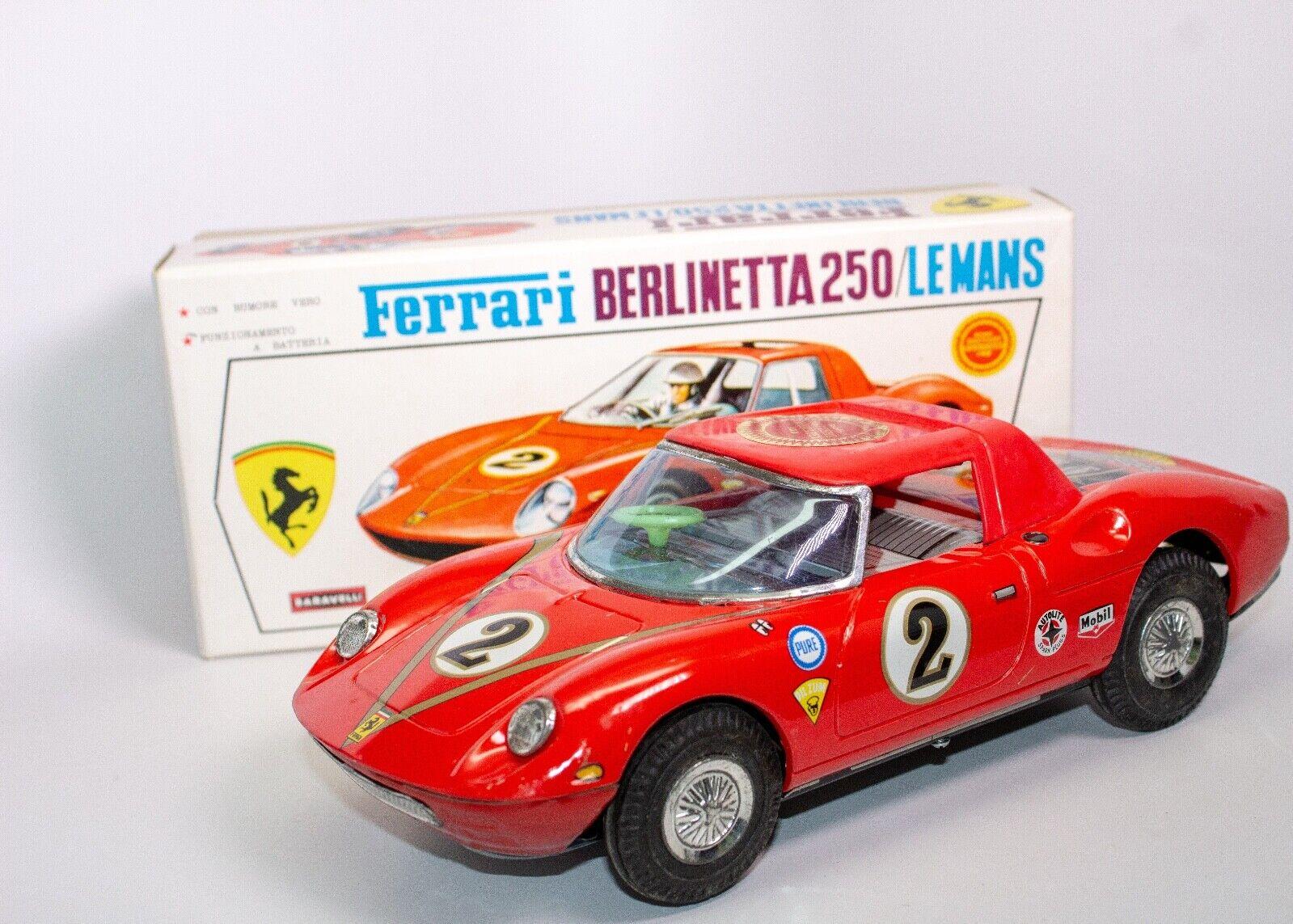 VINTAGE JAPANESE BATTERY OPERATED 1963 FERRARI BERLINETTA LE MANS RACER RACER