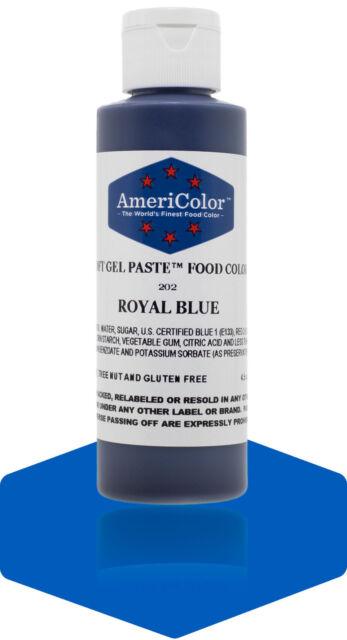 AmeriColor Soft Gel Paste ROYAL BLUE 4.5oz Cake Decorating Food Color