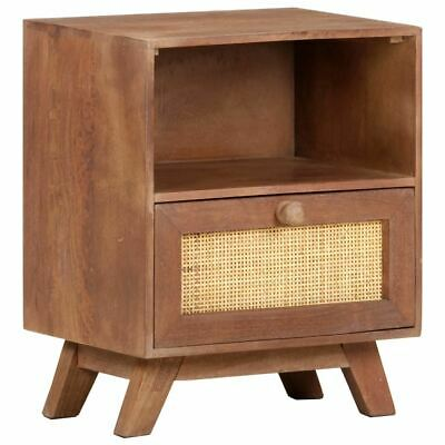 Details about  Rustic Bedside Cabinet Furniture Stylish Wooden Nightstand With Drawer Shelf