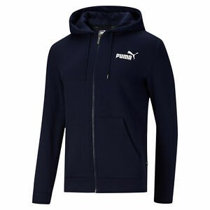 PUMA Men's Essentials Full Zip Hoodie