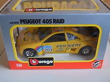 Peugeot 405 Raid Paris Dakar #203 ovp Burago 0131 1/24 rar