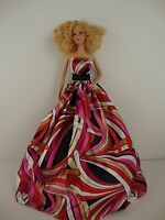 Beautiful Pink Pucci Inspired Ball Gown Made To Fit Barbie Doll