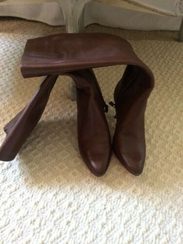 Cole Haan Brown Leather Knee Boots 7.5