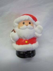 Fisher Price Little People SANTA CLAUS w// BROWN BAG Christmas Holiday Cute 1998