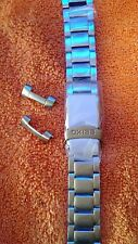 New Seiko stainless steel watch band 22mm curved ends