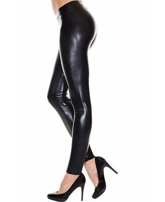 Black Wet Look Tank Top Music Legs 87001