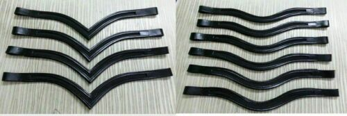 New Lot Of 5 x 1 Empty Channel Leather Browband High Quality 8 MM Free Shipping
