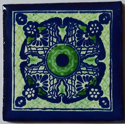 """90 Tiles 4x4"""" Handmade Ceramic Tile Mexican Folk Art C340 Goederen Van Hoge Kwaliteit"""