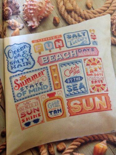 V Emma Congdon Sunshine Dreams Beach Seaside Sampler Cross Stitch Chart