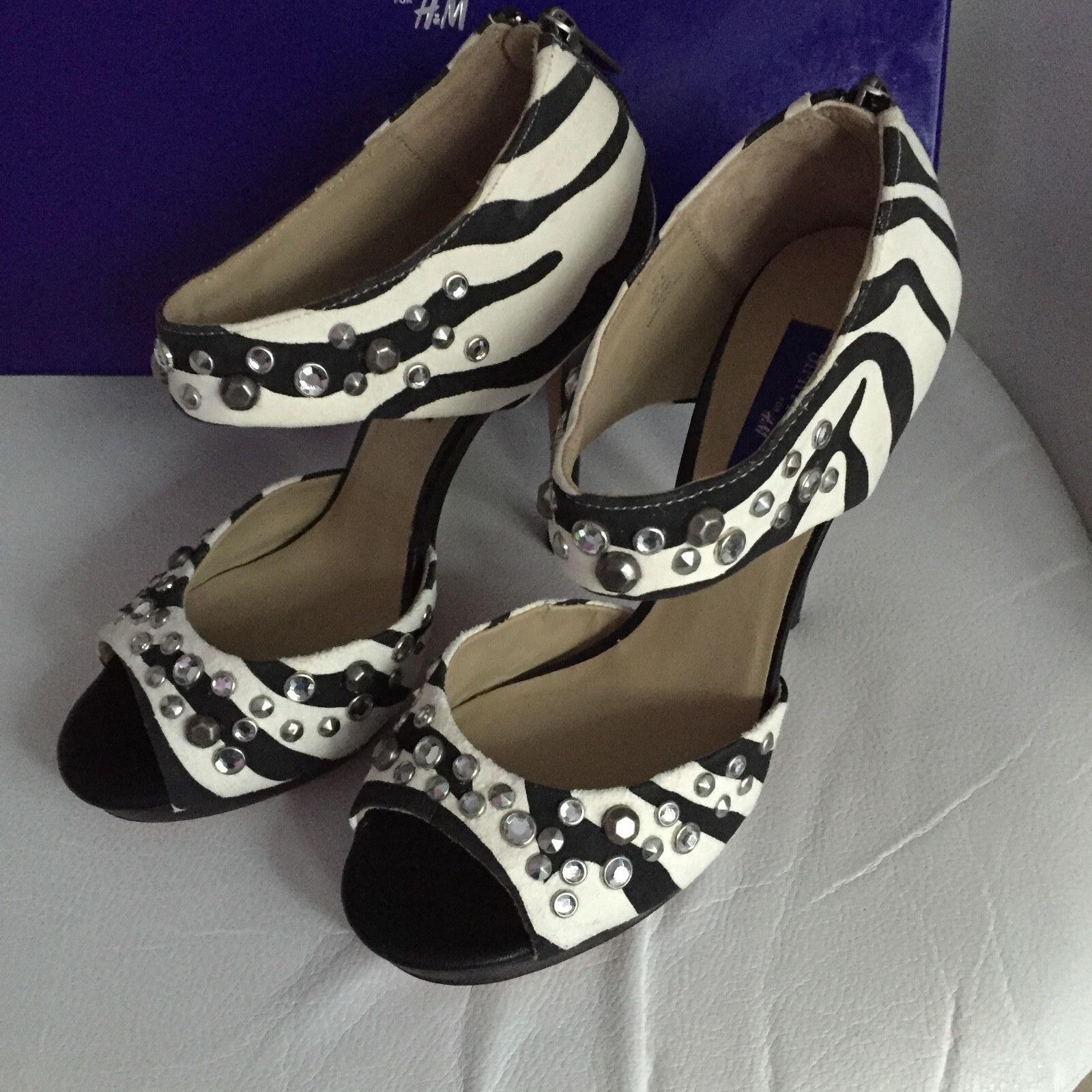 grandi offerte Jimmy Choo For h&m Tacco Alto Pumps EUR TG 39 39 39 Dimensione US 8 Zebra Design Nuovo  negozio online