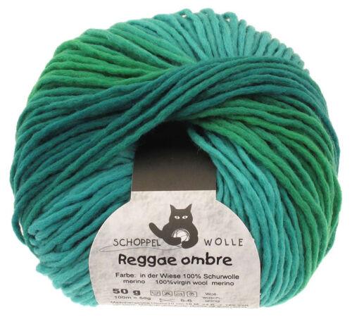 Schoppel lana 50g reggae ombré color 1878 /_ en la pradera