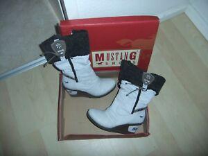 Weiße Mustang Stiefel, Damenschuhe gebraucht kaufen   eBay