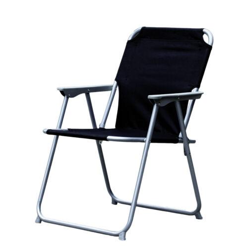 4-teiliges Camping Set schwarz Alu Campingmöbel mit Tragegriff 120x60x58//70cm