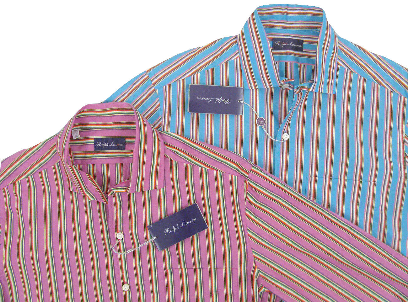 NEW  Ralph Lauren Purple Label Shirt   Pink or bluee  colorful Stripes