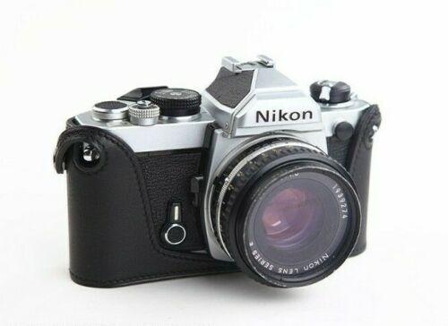 Exquisito hecho de cuero de grano fino medio Caso para Nikon Fm FE2 FE FM2 FM3a