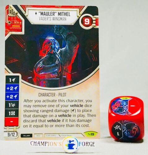 "Star Wars Destiny Across the Galaxy /""Mauler/"" Mithel #19 Rare w// Die"