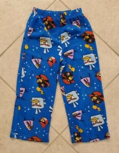 Boy-039-s-Angry-Birds-Space-Pajama-Pants-Size-6-7-Blue
