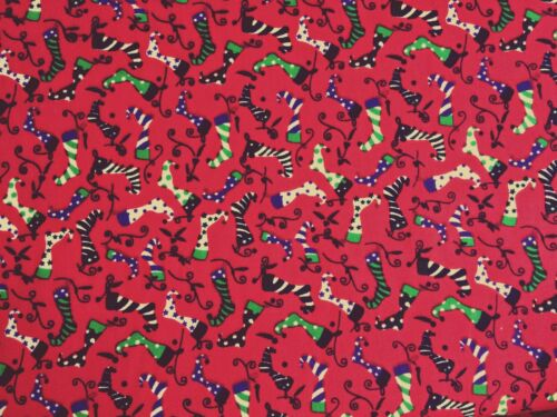 Cheap New Remnants Off Cut Fabric Polycotton XMAS CHILDRENS  STOCKING  Material