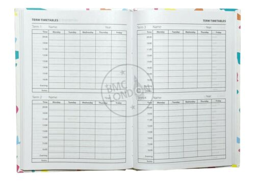2020-2021 A5 Academic Diary Week to View Casebound Mid Year Student Planner