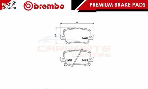 BREMBO GENUINE ORIGINAL PREMIUM BRAKE PADS PAD SET REAR AXLE P28038