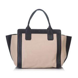 CHLOE-Leather-Alison-Handbag-Brown-x-Beige-x-Black