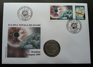 SJ-Romania-Total-Eclipse-1999-Astronomy-Science-Space-FDC-coin-cover