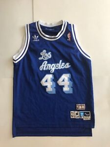 Jerry West NBA LA Lakers #44 Jersey Size 42 Hardwood Classics ...