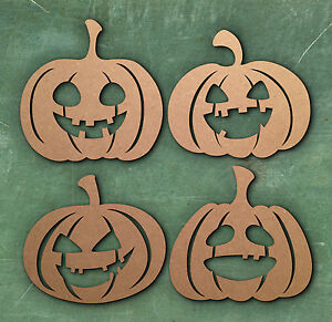 Halloween Free Standing 18mm MDF Pumpkin Craft Shape Various Sizes