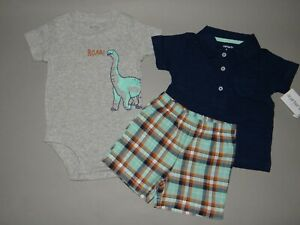 Nwt Baby Boy Clothes 18 Months Carter S 3 Piece Polo Set See Details On Size Ebay
