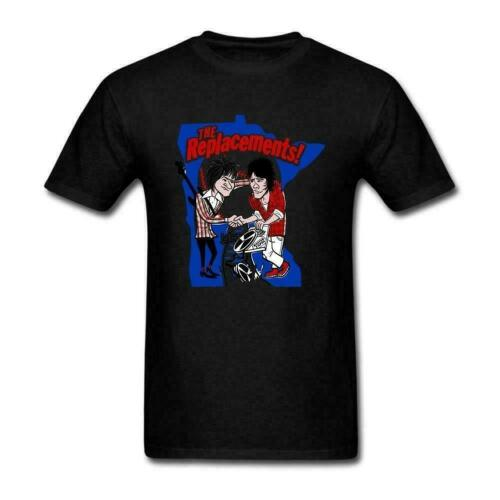 The Replacements Punk Rock Band Black T-Shirt S-5XL Funny Vintage Gift For Men