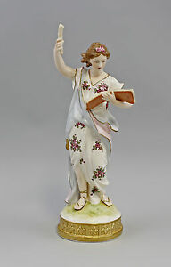 Decorative Arts Porcelain Figurine Muse Allegory Of The Literature Ens H24,2in 9941575 Products Hot Sale
