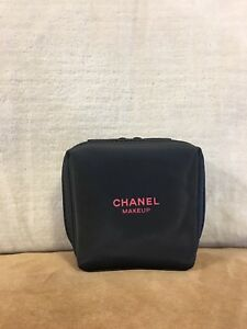 cb22a9e94082 Image is loading Chanel-Beauty-Small-Black-Cosmetic-Makeup-Bag-Lipstick-