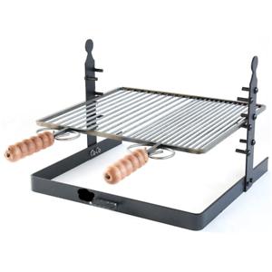 Détails sur Grille Barbecue en Fer Réglable En Hauteur à Partir De 40 CM Pour Barbecue BBQ
