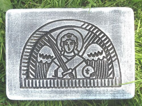 Angel casting plastic mold angel with sword pediment  mould