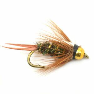 1 dozen Bead Head Flashback Prince Nymph Trout Fly Fishing Flies #14 #16 #18