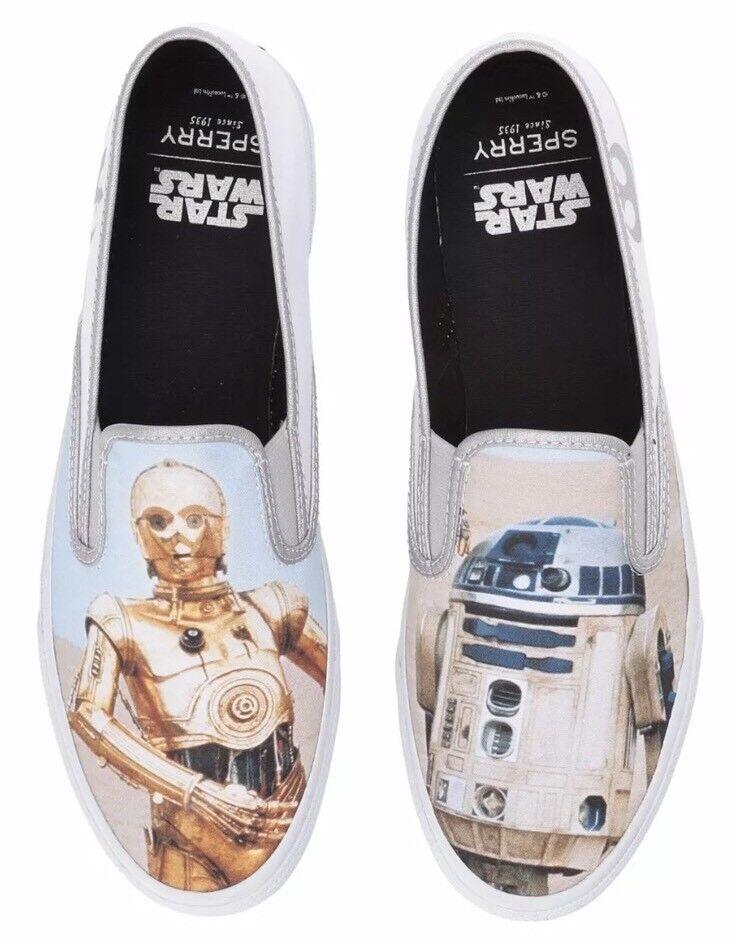 Sperry X Star Wars R2D2 C3PO Cloud Droids Slip On Shoe Scarpe da Ginnastica Multiple Taglias Sz