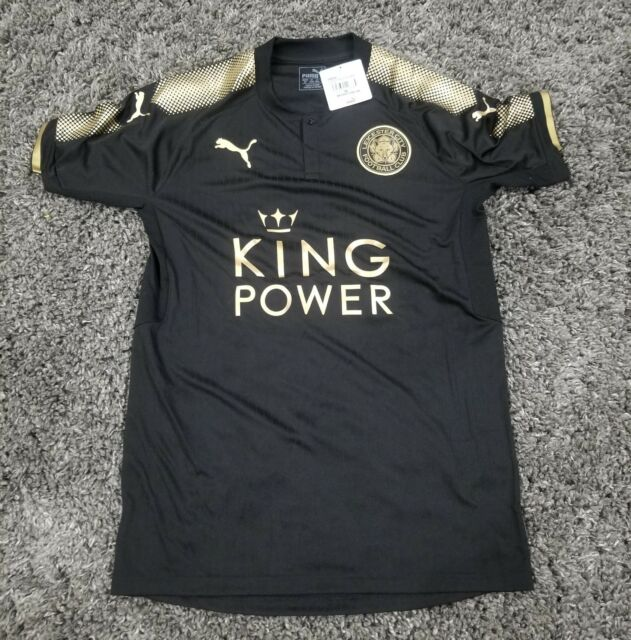 3b391af718f56 PUMA Leicester City Away Soccer Futbol Black Jersey 2017 18 Mens size Small