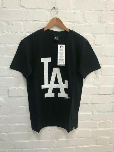 XS S M L Black New LA Dodgers Majestic Men/'s MLB Longline T-Shirt