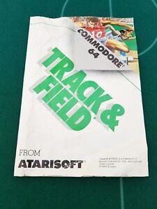 Capable Commodore 64 Track & Field Jeu Notice-afficher Le Titre D'origine Pour Aider à DigéRer Les Aliments Gras
