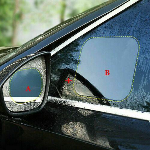 4 x Car Rearview Mirror Glass Film Waterproof Anti-Fog Window RainProof Membrane