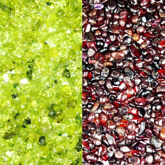 PREMIUM Mini Edelsteine Granat & Peridot Schmucksteine Trommelsteine Heilsteine