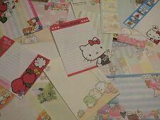 Kawaii San-X Crux Q-Lia Hello Kitty Clover Town Large Memo Sheets 25pcs Set [5]