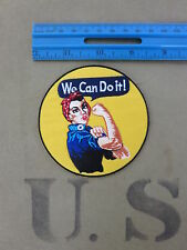 We can do it! Rosie the Riveter WASP WAC Patch US Army WAAC WK2 WWII Nose Art
