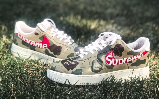 Nike Air Force 1 Size 9.5 Custom Supreme Shoes Handpainted FREE SHIPPING