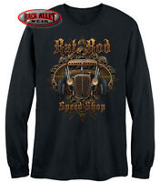 RAT ROD SPEED SHOP LONG SLEEVE T-Shirt ~ Rusty Hot Rod Garage ~ Skull & Bones